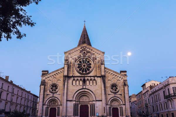 святой Церкви синий городского ночь Skyline Сток-фото © benkrut