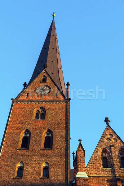 Iglesia hamburgo Alemania horizonte arquitectura Europa Foto stock © benkrut