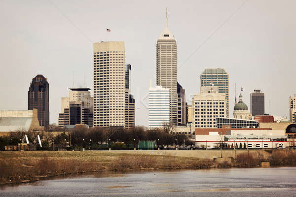 Skyline of Indianapolis Stock photo © benkrut