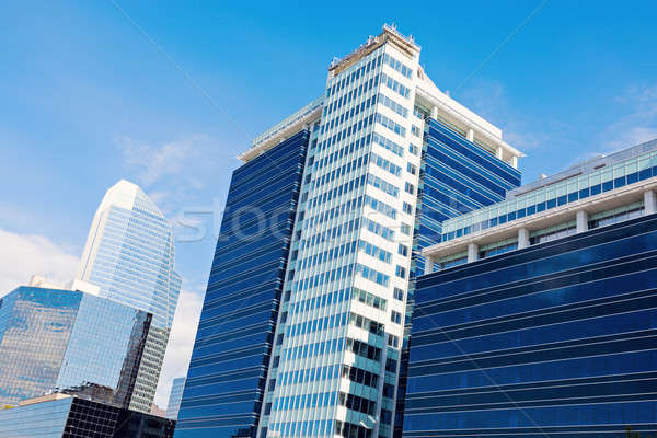 Modern építészet Calgary égbolt épület város kék Stock fotó © benkrut