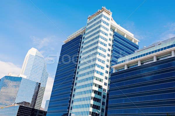 Stockfoto: Moderne · architectuur · calgary · hemel · stad · Blauw · reizen