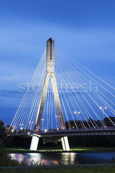 橋 ワルシャワ ポーランド 時間 空 ストックフォト © benkrut