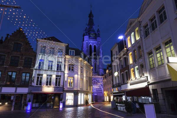 Old town in Kortrijk Stock photo © benkrut