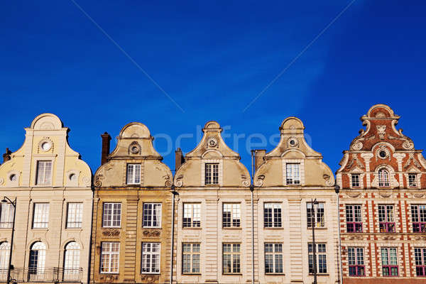 Architecture of Place des Heros in Arras Stock photo © benkrut
