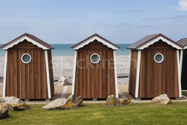 Stock photo: Beach shed in Normandy