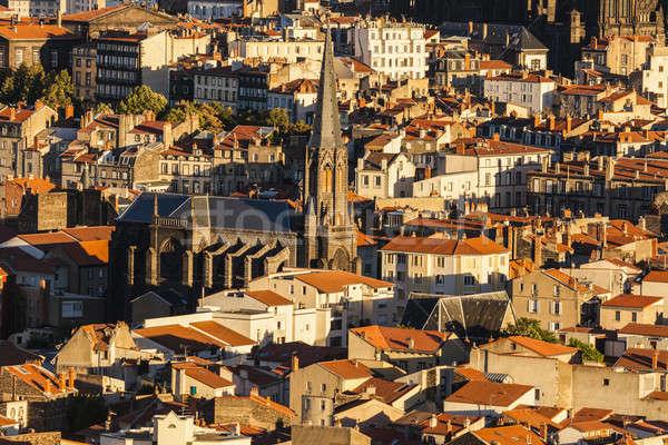 Basilica of Notre-Dame du Port in Clermont-Ferrand Stock photo © benkrut