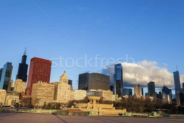 Sabah çeşme şehir merkezinde Chicago Illinois ABD Stok fotoğraf © benkrut