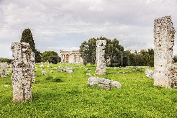 Ruines kerk reizen steen Europa Grieks Stockfoto © benkrut