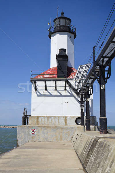 Michigan stad vuurtoren Indiana USA Stockfoto © benkrut