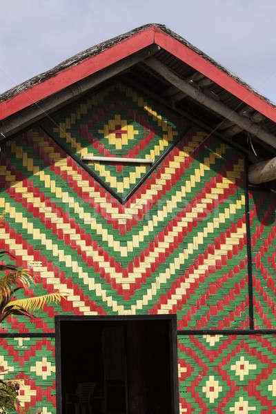 Coloré hutte Vanuatu port bois ville Photo stock © benkrut