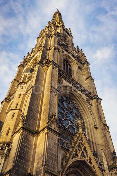 Stock fotó: új · katedrális · Ausztria · égbolt · város · templom