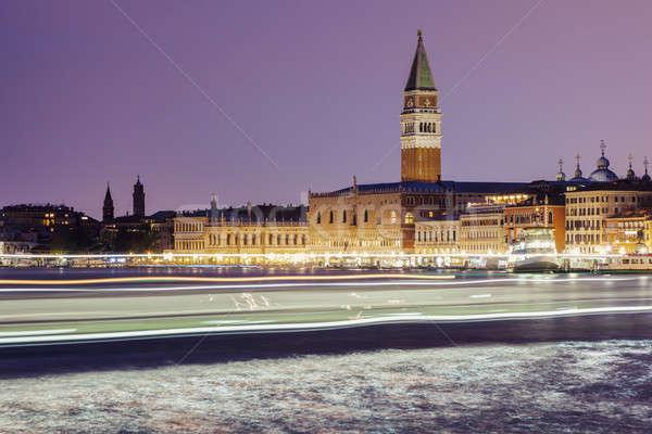 Water traffic in Venice Stock photo © benkrut