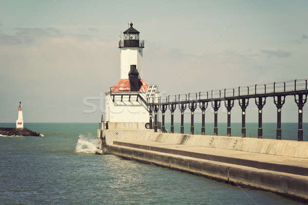 Faro Michigan città Indiana cielo Foto d'archivio © benkrut