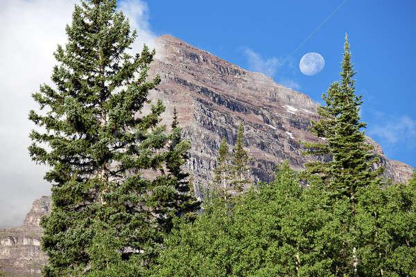 Luna piena maroon Colorado estate viaggio Foto d'archivio © benkrut