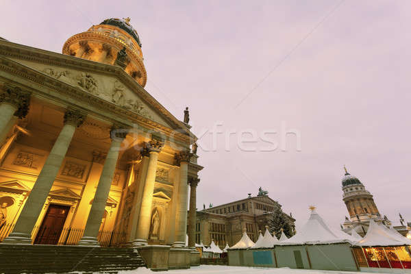Gendarmenmarkt with French and German Domes  Stock photo © benkrut