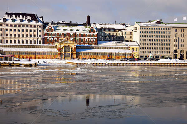 Panorama of Helsinki from Baltic Sea Stock photo © benkrut