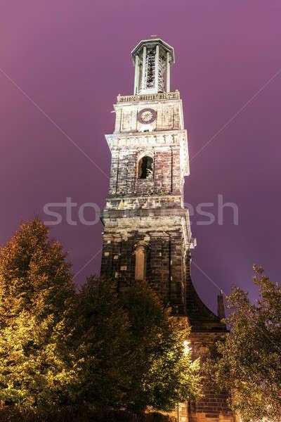 Aegidien church tower in Hanover Stock photo © benkrut