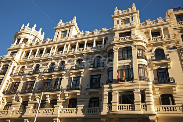 Architecture along Gran Via in Madrid Stock photo © benkrut