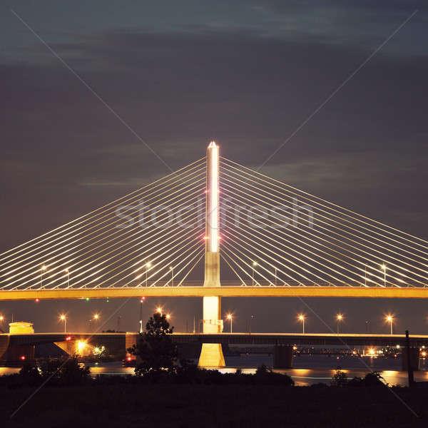 üveg város híd Ohio Stock fotó © benkrut