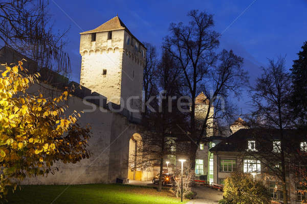City Wall towers night time Stock photo © benkrut