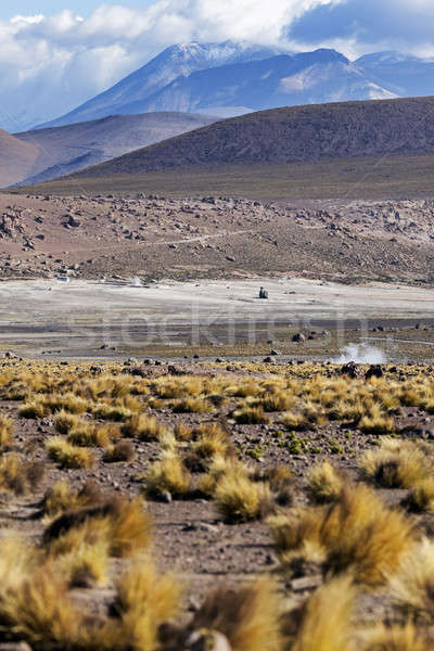 Chili woestijn berg ochtend Stockfoto © benkrut