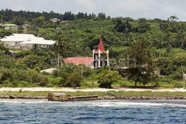 Church on Eua Island seen from the sea  Stock photo © benkrut