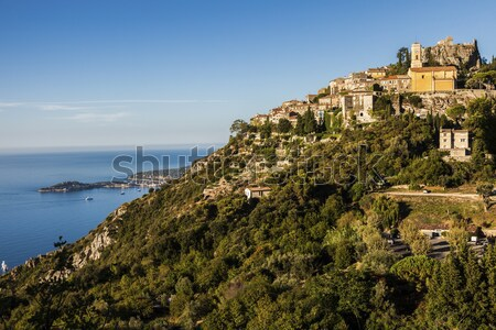 Eze panorama in the morning Stock photo © benkrut