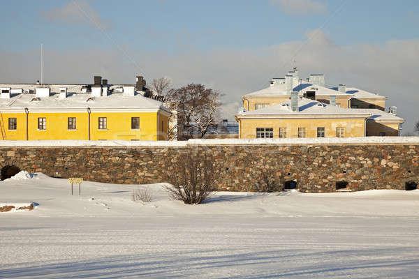 Stok fotoğraf: Renkli · mimari · Helsinki · Finlandiya · ev · duvar