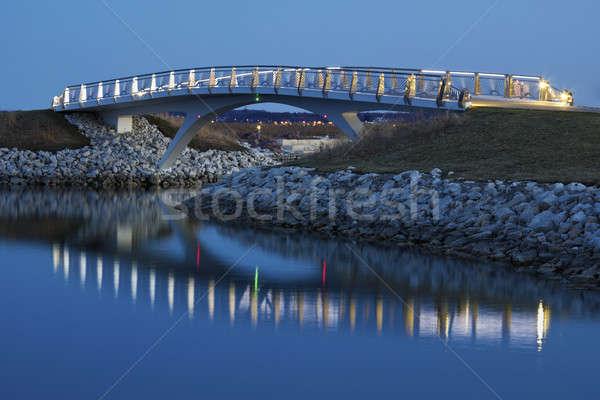Little bridge by the Lakefront in Milwaukee Stock photo © benkrut