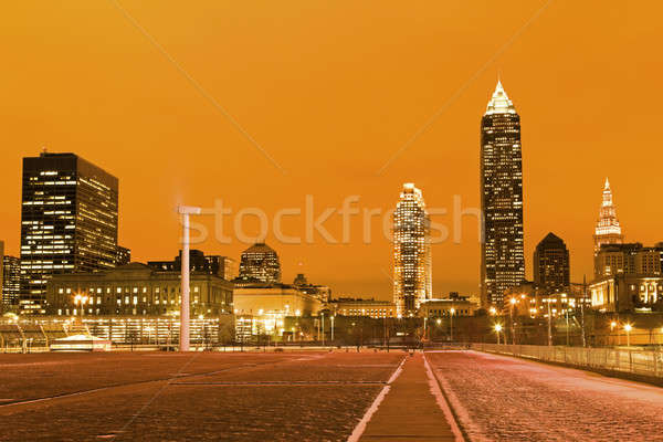 Cleveland after sunset Stock photo © benkrut
