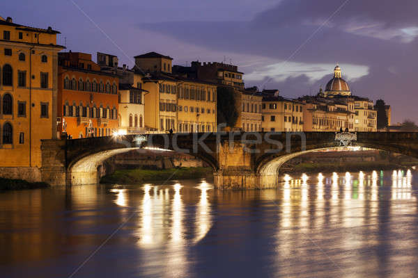 Holy Trinity Bridge in Florence Stock photo © benkrut