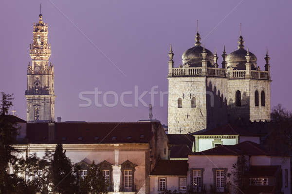 Clerics tower in Porto and Se Cathedral  Stock photo © benkrut