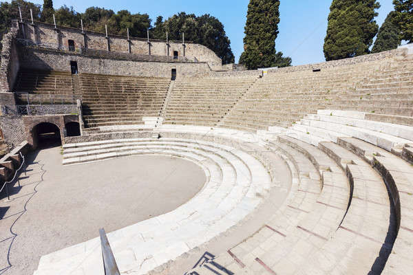 Roman apmhitheater - Pompei ruins Stock photo © benkrut