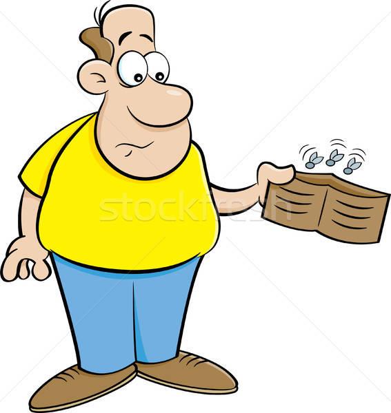Сток-фото: Cartoon · человека · пусто · бумажник · иллюстрация