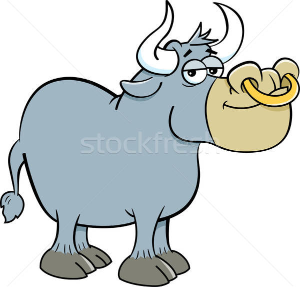 Cartoon Smiling Bull Stock photo © bennerdesign
