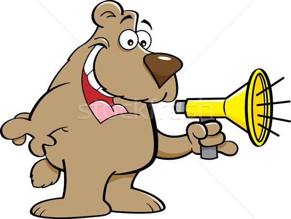 Cartoon несут говорить мегафон иллюстрация Сток-фото © bennerdesign