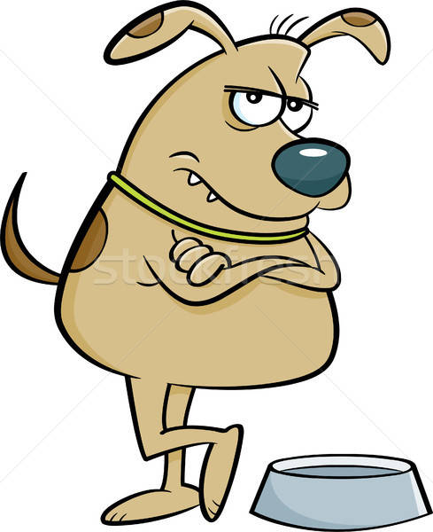 Cartoon folle chien illustration vide plat Photo stock © bennerdesign