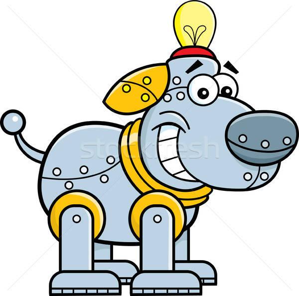 Cartoon mechanical dog. Stock photo © bennerdesign