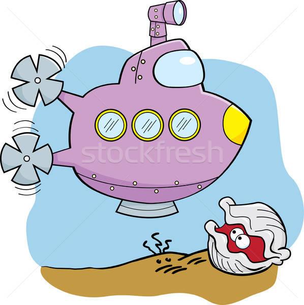 Cartoon подводная лодка иллюстрация животного вектора Сток-фото © bennerdesign