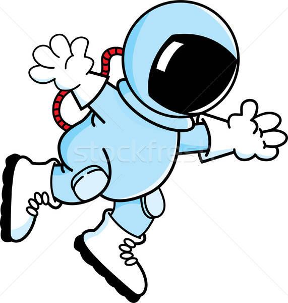 Cartoon floating astronaut. Stock photo © bennerdesign