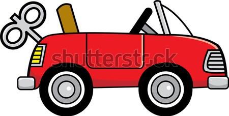 Cartoon Toy Wind Up Car Stock photo © bennerdesign