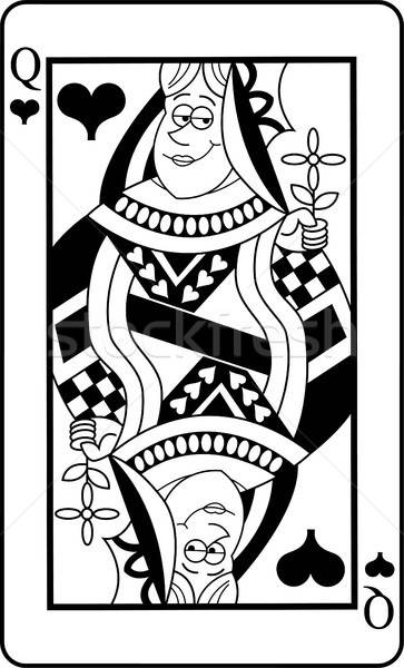 Cartoon Queen of Hearts Playing Card Stock photo © bennerdesign