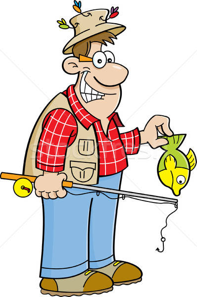 Cartoon Fisherman Stock photo © bennerdesign