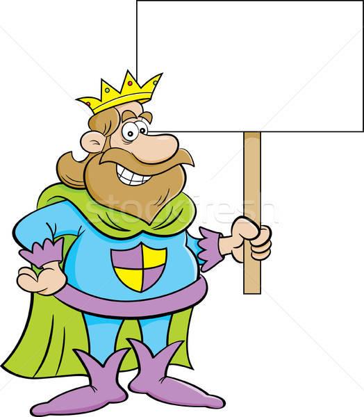 Cartoon царя знак иллюстрация человека Сток-фото © bennerdesign