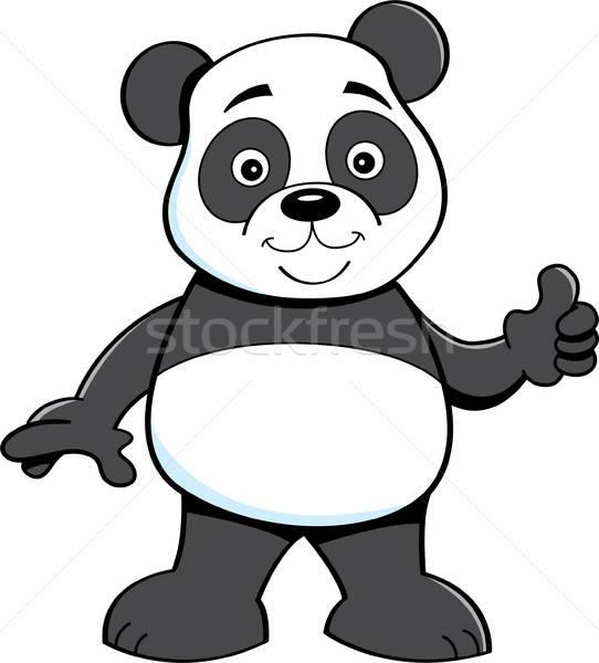 Karikatür panda ayı örnek Stok fotoğraf © bennerdesign