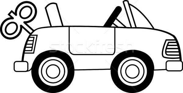 Cartoon игрушку ветер вверх автомобилей черный Сток-фото © bennerdesign