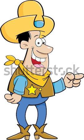 Cartoon Angry Cowboy Stock photo © bennerdesign