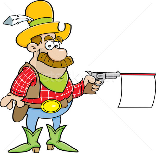 Cowboy with a gun Stock photo © bennerdesign