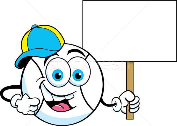 Rajz baseball visel baseballsapka tart felirat Stock fotó © bennerdesign