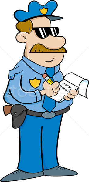 Cartoon Policeman Writing a Ticket Stock photo © bennerdesign